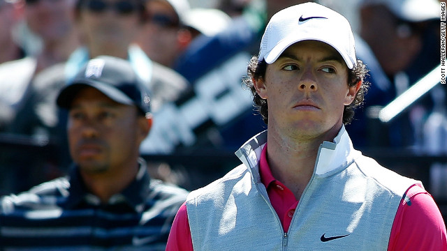 Nike stablemates Rory McIlroy (R) and Tiger Woods were paired together at the WGC in Florida
