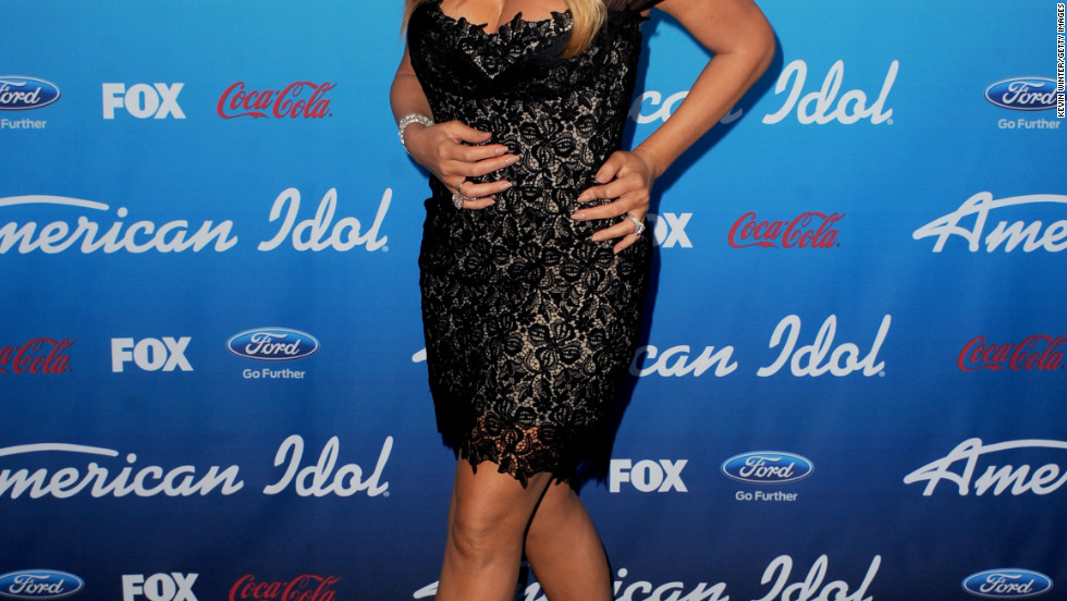 "Mariah Carey attends an ""American Idol"" party in Los Angeles, California."