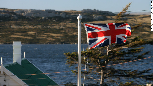 The referendum in the Falklands is supported by the British government. Above, the Union Jack files over Stanley in 2007.