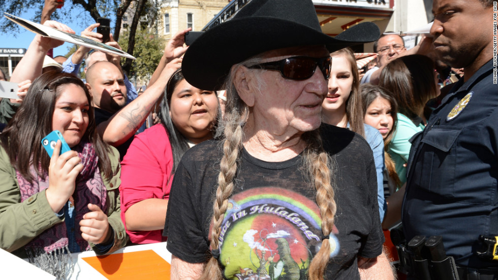 "Country singer Willie Nelson attends the March 10 premiere of ""When Angels Sing"" at SXSW."