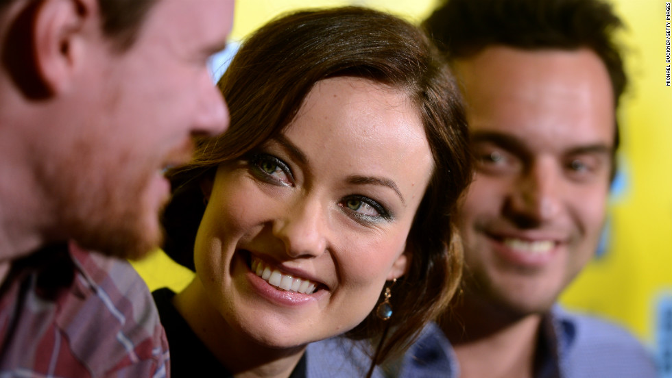 "From left, director Joe Swanberg, actress Olivia Wilde and actor Jake Johnson attend the world premiere of ""Drinking Buddies"" on March 9 at SXSW."