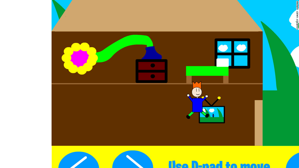 "An image from ""My Little World,"" the latest game in development from Jordan Casey, a 13-year-old app developer from the Republic of Ireland. Casey released his first game, Alien Ball vs Humans, when he was 12."