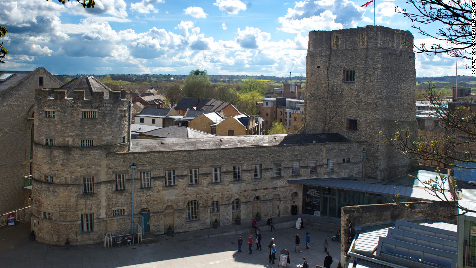 Oxford Castle and the Saxon St. George's Tower.