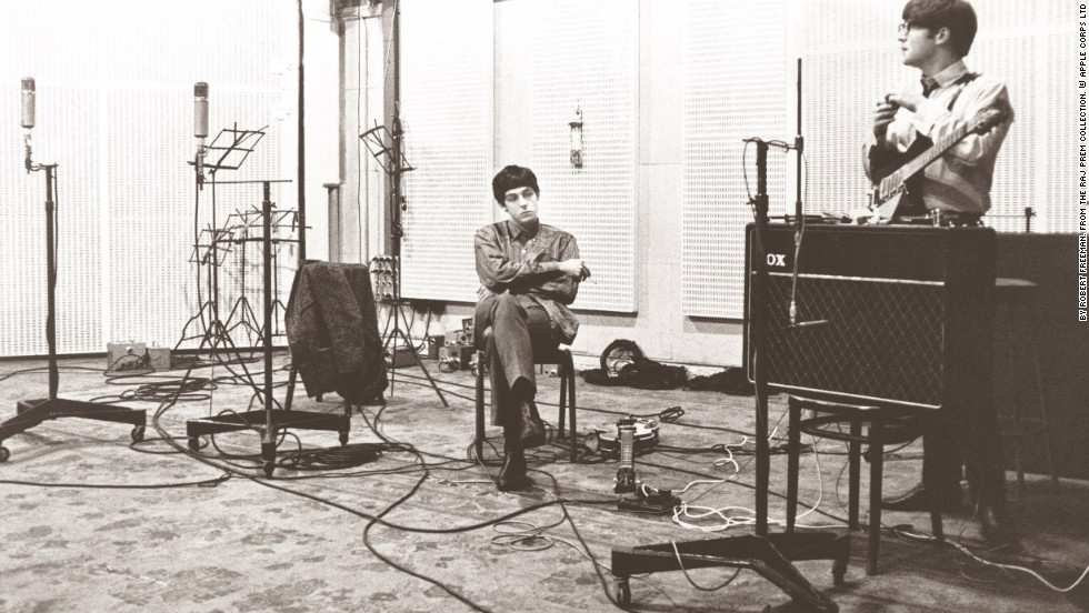 "Paul McCartney and John Lennon are recording ""With the Beatles,"" their second studio album, in 1963 at Abbey Road Studios in northwest London. Other bands to have recorded at the legendary studios, which opened in 1931, include Pink Floyd, Mick Jagger, Oasis and Blur."