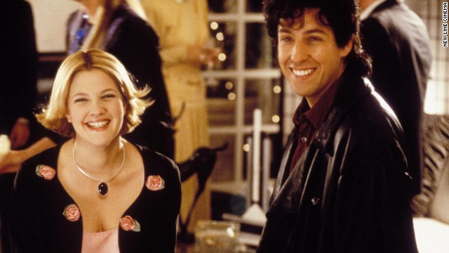 """Drew Barrymore and Adam Sandler have starred in a few movies together including """"The Wedding Singer"""" in 1998."""