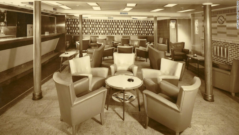 "The <em>Duke</em> boasted a silver service restaurant and spacious cabins. ""She was an opulent ship -- her fixtures and fittings were second to none,"" Williams said."