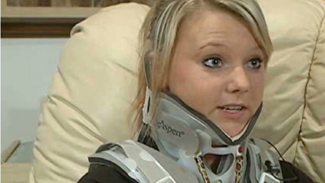 Teen's car crash reveals 5-inch tumor