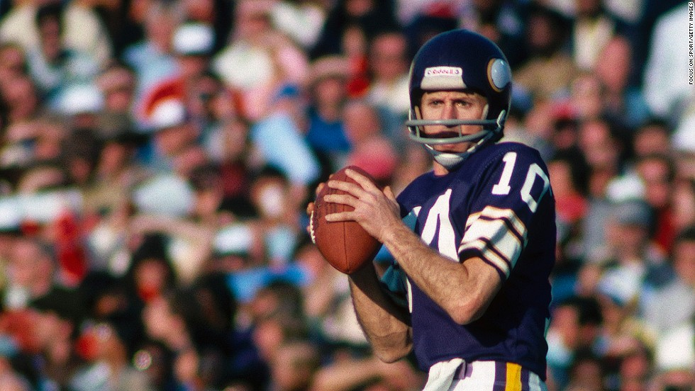 "Francis ""Fran"" Tarkenton -- The Hall of Fame quarterback was known for his scrambling and pass yardage during a lengthy career with the New York Giants and Minnesota Vikings."