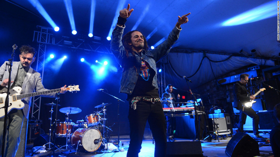 Singer Ruben Albarran of Cafe Tacuba performs at the NPR show at the 2013 South by Southwest Music, Film and Interactive Festival in Austin, Texas, on Wednesday, March 13. The festival runs through March 17.