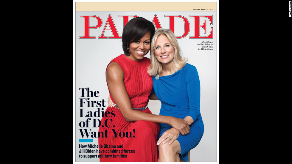 Obama and Jill Biden on the cover of Parade.