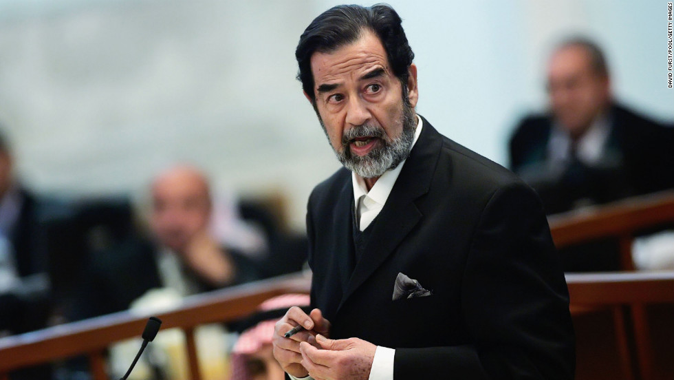 Just hours before the United States began bombing Iraq in 2003, Saddam Hussein's family took $1 billion from the country's central bank. People who lived near the Central Bank at the time told CNN that they saw three or four trucks backed up to the bank, and that people appeared to be load money onto them. Since he was acting as an absolute ruler at the time, it may have seemed to him more like a withdrawal than a robbery.