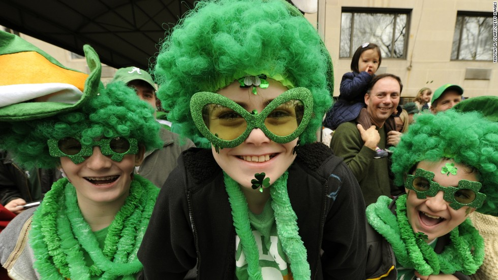 "Although <a href=""http://www.religionfacts.com/christianity/holidays/st_patricks_day.htm"" target=""_blank"">Irish people traditionally wear shamrocks and the colors of the Irish flag</a> (green, white and orange) on St. Patrick's Day, the rest of the world has embraced wearing green."