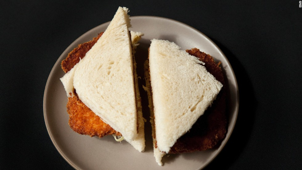 Known in Japan as katsu sando, the tonkatsu sandwich typically features a deep-fried pork cutlet in white bread with shredded cabbage and Worcestershire-like tonkatsu sauce. Pictured: tonkatsu sandwich from Nojo in San Francisco.