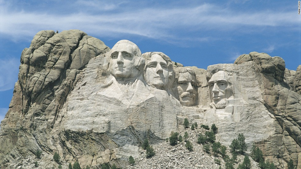 Mount Rushmore National Memorial in South Dakota was picked as FamilyFun's top tourist attraction.