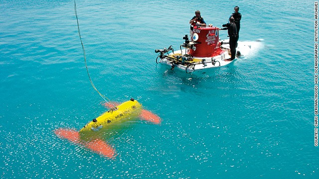 Sentry is a robotic underwater vehicle used for exploring the deep ocean; it will often be used to complement Alvin by surveying large swaths of ocean floor to determine the best spots for close-up exploration.