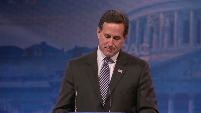 Santorum gets emotional about nephew