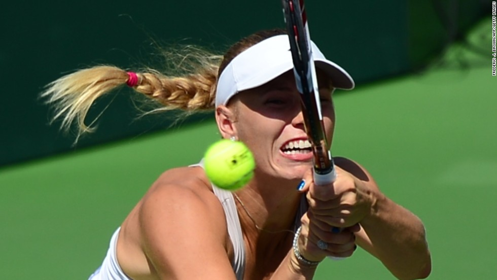 Caroline Wozniacki, currently ranked No.10 in the world, failed to cope with the pace and power of her opponent in the opening stages.