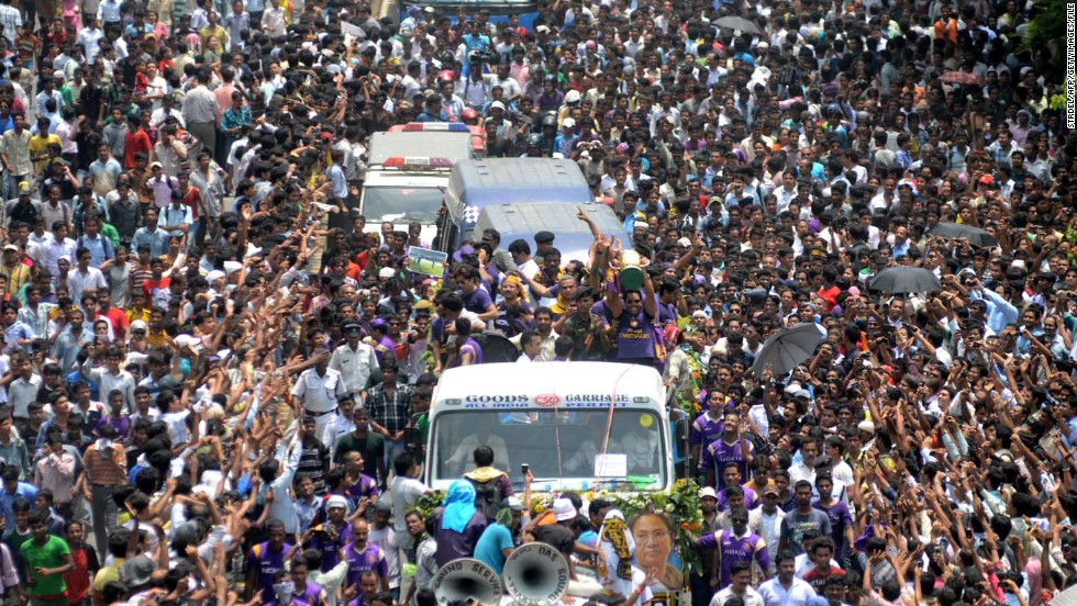 The Kolkata Knight Riders are welcomed back to the city after winning the IPL last year. The 2013 competition begins in April.