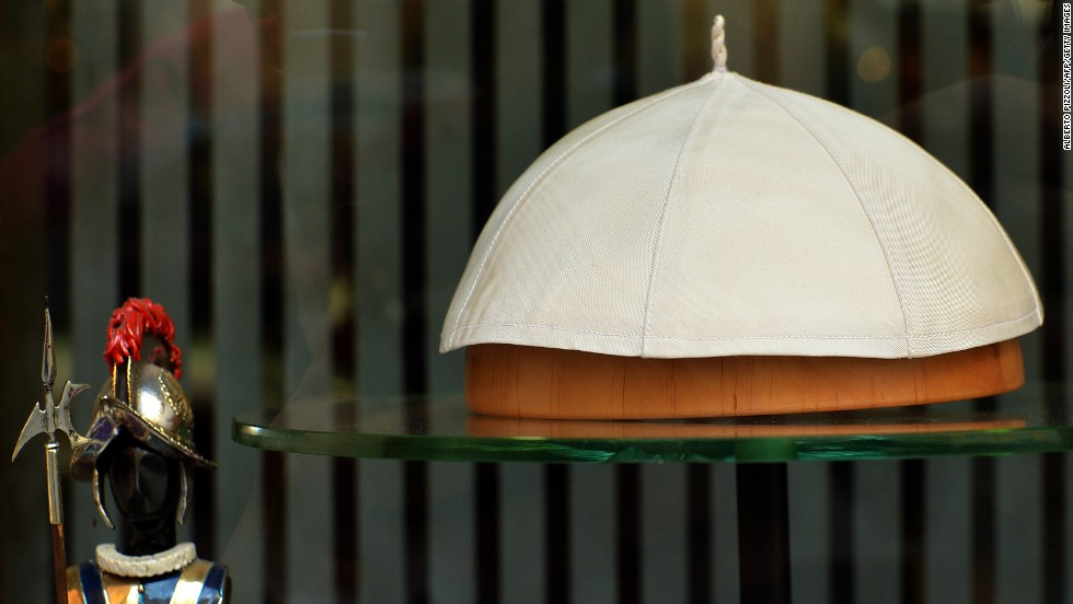 The zucchetto is a skullcap worn by clerics in the Roman Catholic Church and some other churches, Beck said. Priests wear black zucchettos and prelates wear violet or red, while white is reserved for the pope.