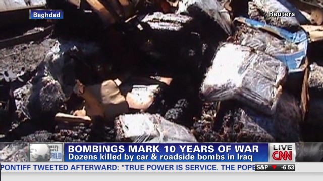 Bombings mark 10 years of war