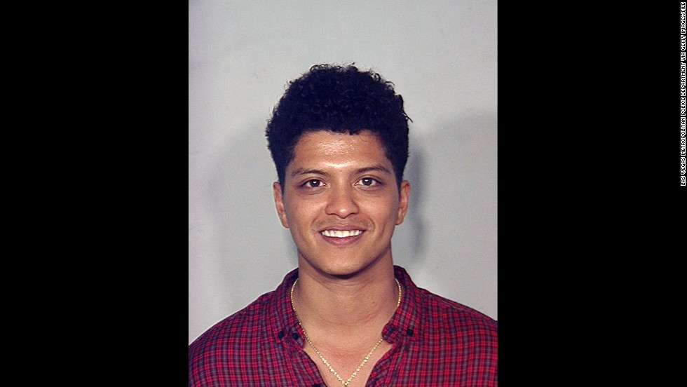 "Singer Bruno Mars was arrested on September 19, 2010, in Las Vegas, Nevada, on a drug charge. He<a href=""http://www.cnn.com/2011/SHOWBIZ/celebrity.news.gossip/02/16/bruno.mars.plea/index.html?iref=allsearch"" target=""_blank""> accepted a ""deferred adjudication""</a> deal in 2011."