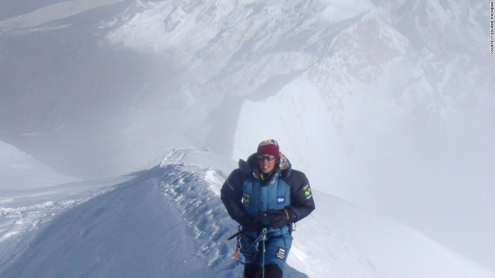 It took Pasaban nine years, from 2001 to 2010, to climb all the mountains.  When she climbed Manaslu in 2008, Pasaban says it snowed for most of the ascent, creating dangerous conditions.