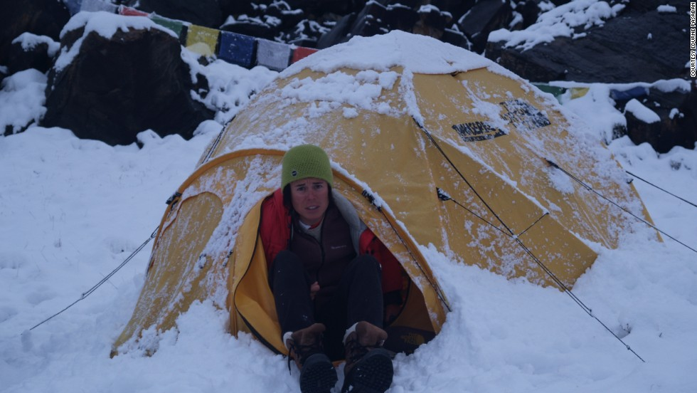 "Pasaban, seen here camping in the cold during an ascent of Annapurna in 2010, is candid about battling with depression which, she said, was triggered in part with what she had sacrificed: her career and the possibility of having children.<br /><br />""It was a critical moment in my life and I nearly wanted to give up all,"" she says. ""Trying to find the incentive to continue a lot of times is not easy and when you are suffering a depression it is even harder, because you do not see beyond yourself.<br /><br />""The 14 8,000ers have been for me more than 14 mountains, they have been the key to come out from where I was."""