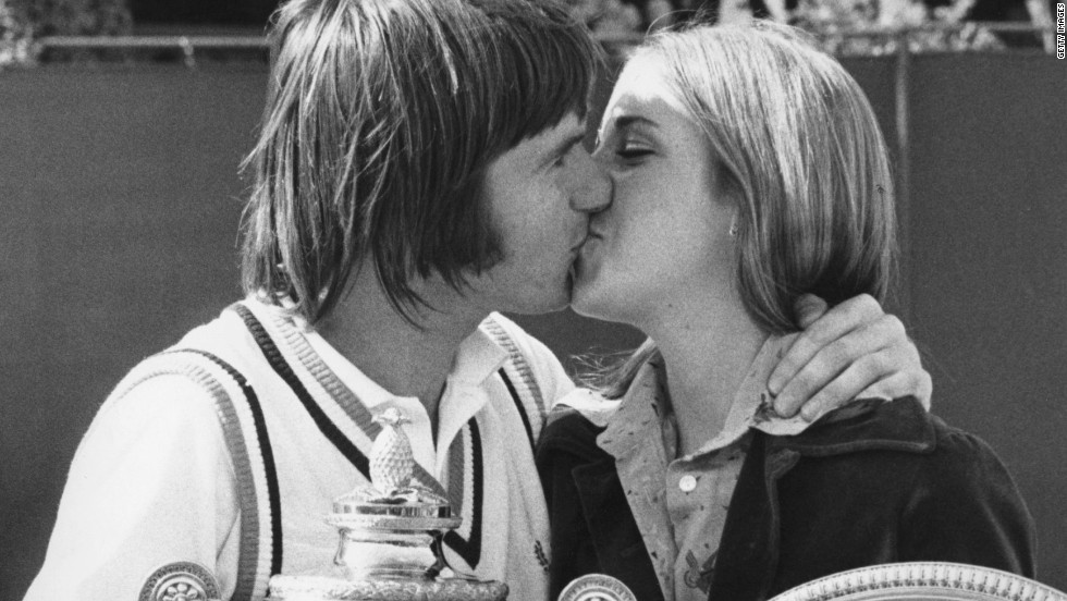 Fiancees Jimmy Connors and Chris Evert will never forget the 1974 Wimbledon Championships, when the Americans won their respective singles titles - before celebrating their feat with an embrace on Center Court. Sadly for Connors, Evert had plenty more aces up her sleeve.
