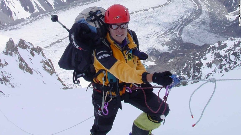 As a child, Pasaban enjoyed trekking with her parents in the Basque Country. At the age of 14, she joined a mountaineering club and took up climbing, initially in the Pyrenees and the Alps, before progressing to the Himalayas. <br /><br />Here, Pasaban is pictured in the midst of climbing K2, the world's second highest mountain at 8,611m, on the border of Pakistan and China, in 2004.