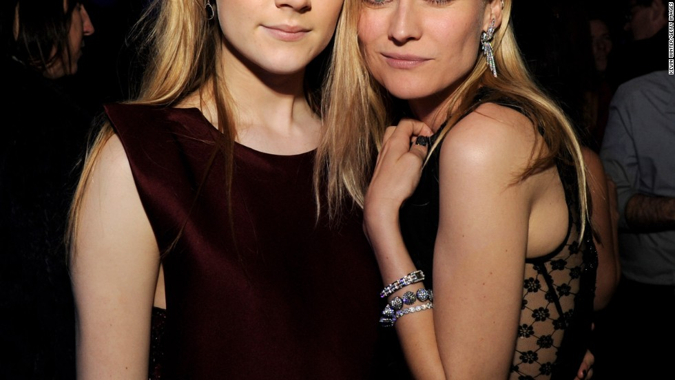 "Saoirse Ronan and Diane Kruger pose at the after party for the premiere of ""The Host"" in Los Angeles."