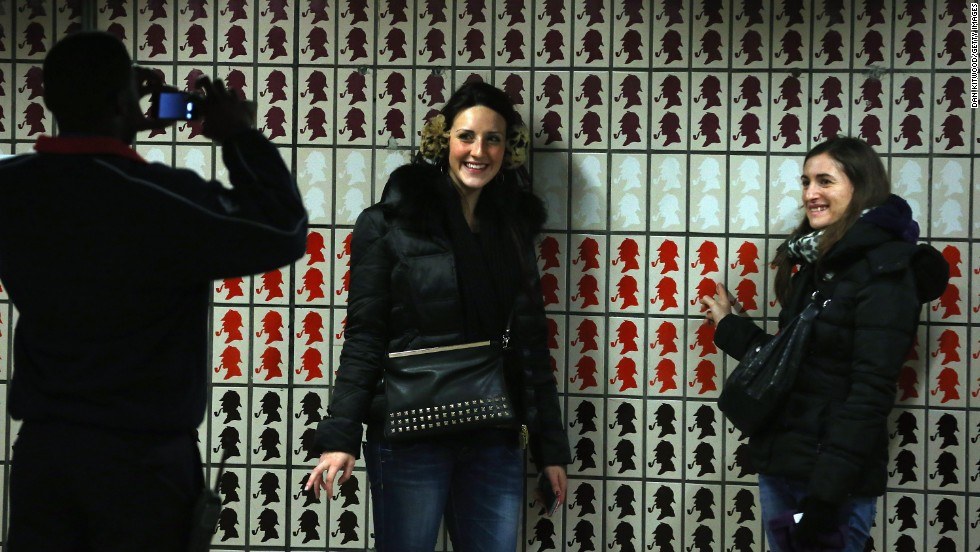 The station is covered in Sherlock Holmes themed tiles and it has become a popular photography spot for London tourists.