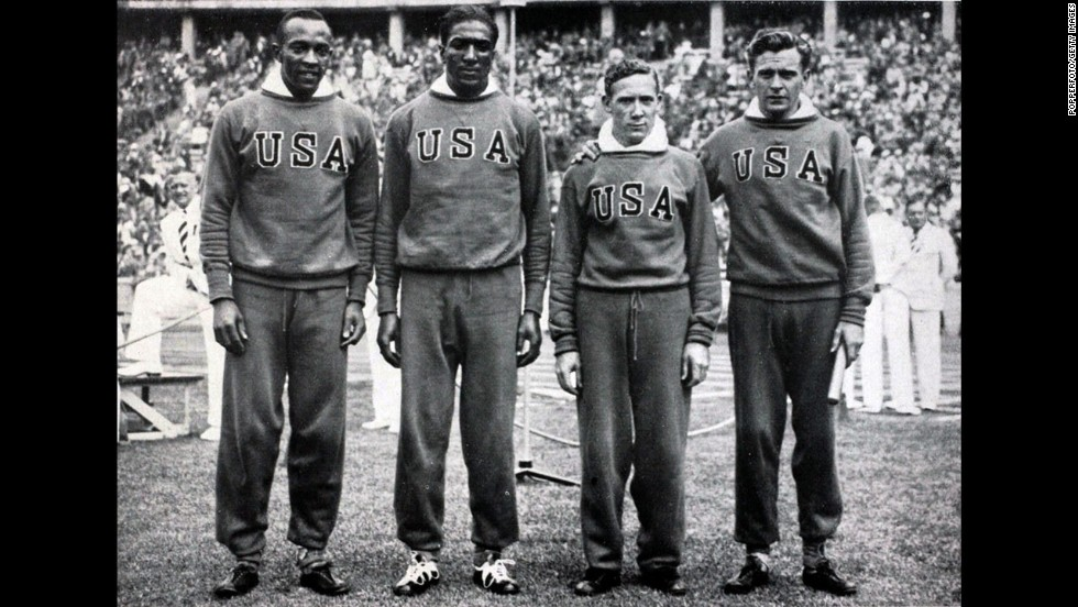 Former U.S. Rep. Ralph Metcalfe, second from left, of Illinois was an acclaimed athlete who eventually became the first man to win the NCAA 200-meter title three consecutive times. In the 1936 Olympics, Metcalfe placed second to Jesse Owens in the 100-meter race and also won a gold medal for his part in 4x100-meter relay. He served in Congress from 1971 until his death in 1978.