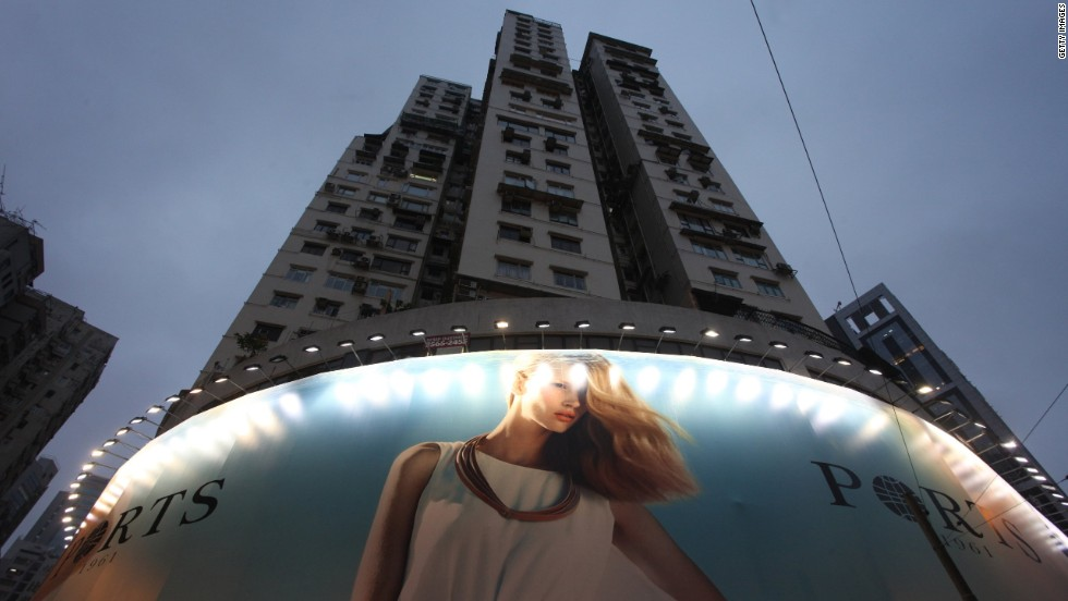 Hong Kong residents now have to contend with floodlit hoardings.