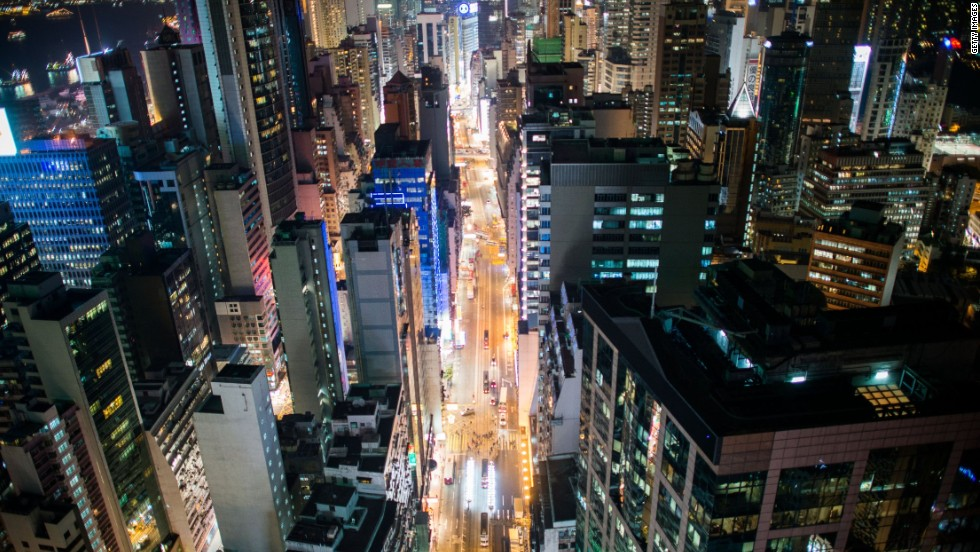 Parts of Hong Kong were found to be 1,000 times brighter than international norms.