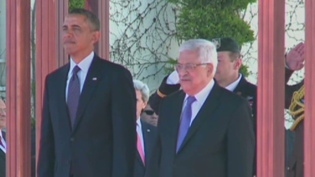 President Obama arrives in Ramallah