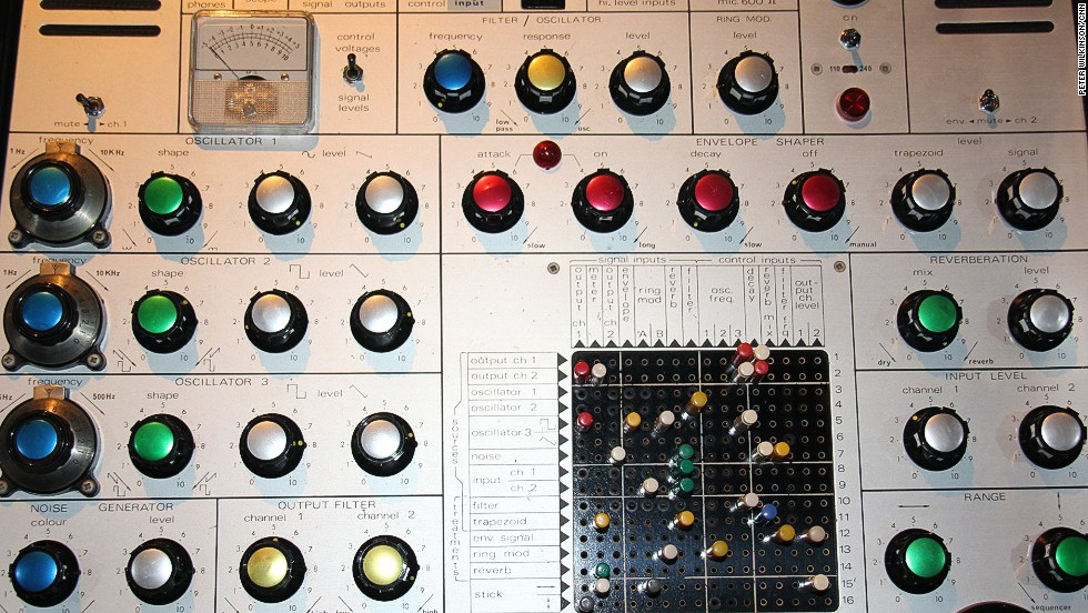 """This AKS synthesizer was used while recording """"Low,"""" """"Heroes"""" and """"Lodger"""" and was an important part of the electronic sound on those albums. Eno gave it to Bowie in 1999 with a letter, which read: """"Look after it. Patch it up in strange ways -- it's surprising that it can still make noises that nothing else can make."""""""