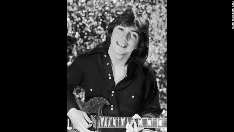 "Singer and actor David Cassidy, seen here circa 1975, was a heartthrob both on and off the small screen. Playing Keith Partridge, the dreamy eldest brother on ""The Partridge Family,"" soon brought Cassidy music fame in real life. Surely some fans still have this infamous <a href=""http://www.rollingstone.com/music/pictures/rolling-stones-biggest-scoops-exposes-and-controversies-2-aa-624/david-cassidy-rejects-bubblegum-image-20251536"" target=""_blank"">1972 Rolling Stone cover</a>, on which Cassidy posed nude."