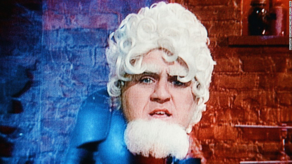 Leno during a skit on January 8, 1997.