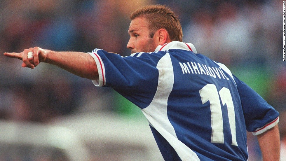 Sinisa Mihajlovic played for Yugoslavia between 1991 and 2003 and he was on the pitch during the team's matches with Croatia in 1999. Mihajlovic wants both teams to put the war behind them and look to the future.