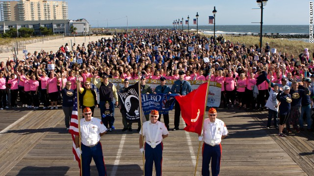 The HERO Walk in Ocean City, New Jersey, raises awareness of the need for designated drivers.