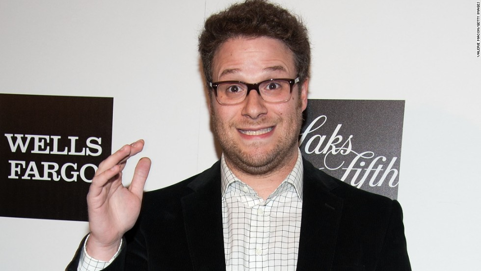 Seth Rogen waves on the red carpet of a benefit for the L.A. Gay & Lesbian Center on March 21.