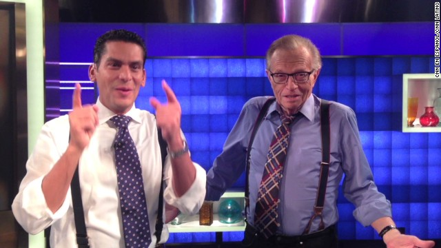 Larry King interviewed on CNN en Español