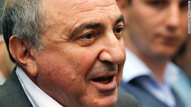 Boris Berezovsky addresses the media outside the Royal Courts of Justice in London after losing his lawsuit against Chelsea FC owner Roman Abramovich on August 31, 2012.