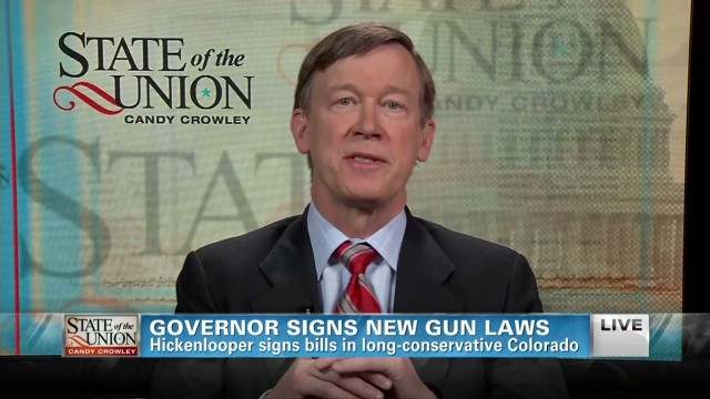 Hickenlooper: Gun control 'a tough sell'