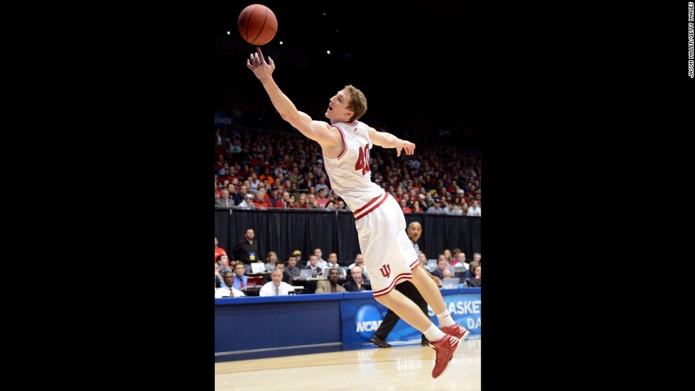 Cody Zeller of Indiana lunges for the ball on March 24.