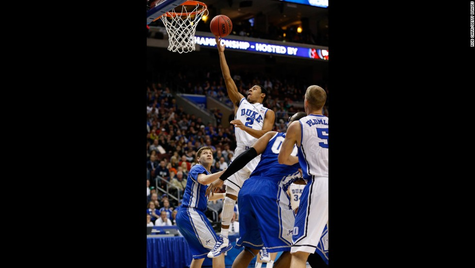 Quinn Cook of Duke goes up for a shot on March 24.