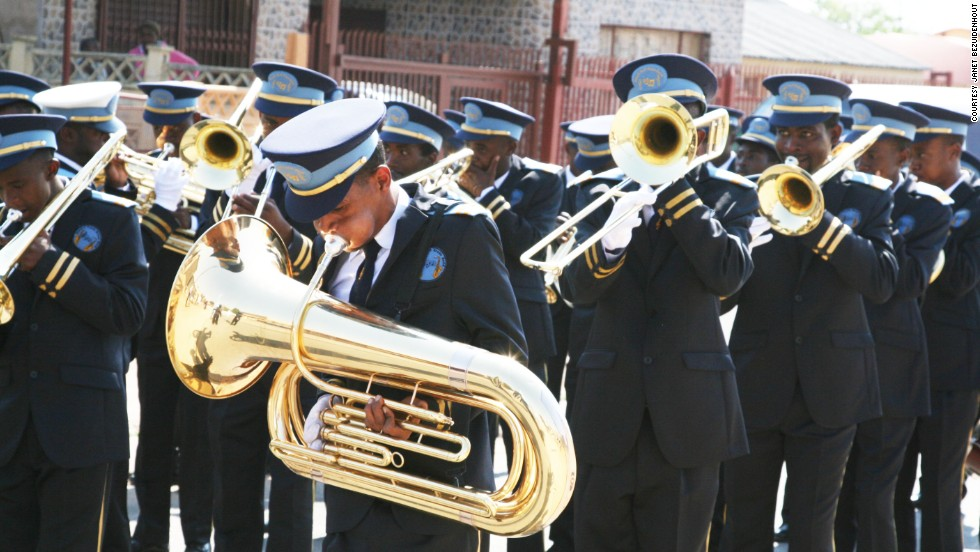 "Some of the band members used to belong to local gangs in an area plagued by high crime rates. ""After 7 or 8 o'clock at night it is difficult to walk around,"" says Bezuidenhout. ""Men lurking on the streets will stab you and take everything in your possession."""