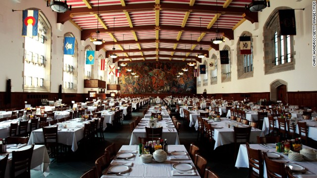 The dining hall of the United States Military Academy, West Point, New York.