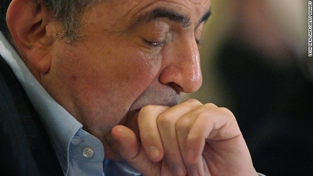 Boris Berezovsky listens to questions during a press conference at the Euston Hilton hotel in London, 23 November 2007, on the first year anniversary of the death of former Russian spy Alexander Litvinenko.