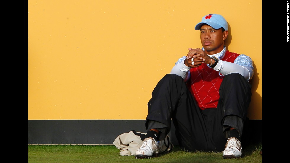 In October 2010, Woods appears dejected after losing a match to Lee Westwood and Luke Donald in the Ryder Cup team competition in Wales. Later that month he lost his No. 1 ranking to Westwood, a position he had held for 281 consecutive weeks. He had taken a break from golf earlier that year after reports of marital infidelities emerged in late 2009.